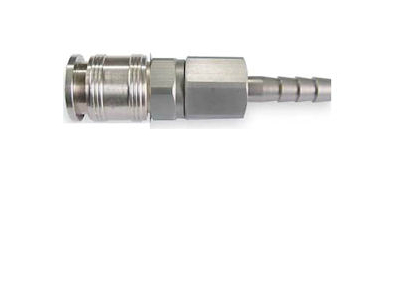 "Universal Coupler, 3/8"" Barb, 1/4"" Body"