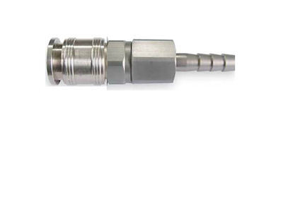 "Universal Coupler, 1/2"" Barb, 1/4"" Body"